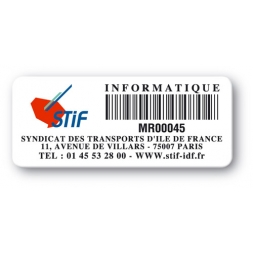 asset label personnalised logo barcode