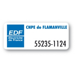 asset label personnalised edf logo reference en