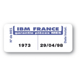 etiquette ultra desctructible ibm france reference