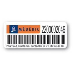 asset label logo mederic barcode reference en