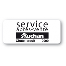 etiquette logo auchan sav reference noire