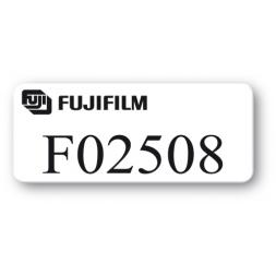 etiquette pvc impression noire fujifilm reference