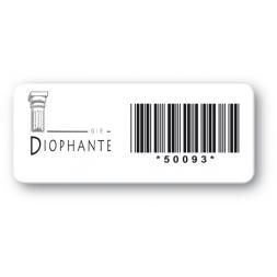 etiquette pvc impression noire diophante code barre