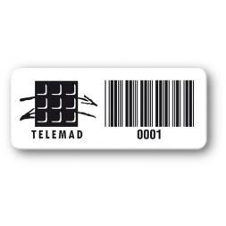 Destructible Black Print PVC Asset Label