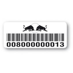 etiquette pvc impression redbull logo code barre reference