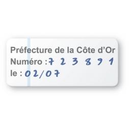 etiquette double adhesif pre imprimee prefecture cote d or