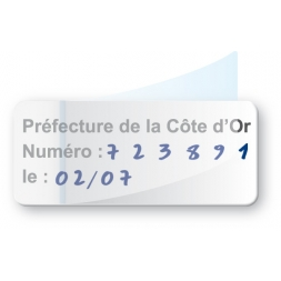 transparent glossy polyester protection asset tag pre printed cote d or en