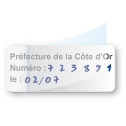 etiquette pre imprimee prefecture cote d or