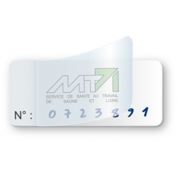 transparent glossy polyester protection asset tag pre printed mt71 logo reference en
