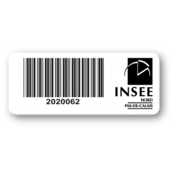 pre printed protected heavy duty asset tag colored logo insee barcode en