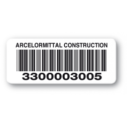 pre printed protected asset tag arcelormittal barcode en
