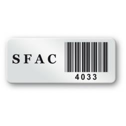 pre printed protected asset tag sfac barcode en