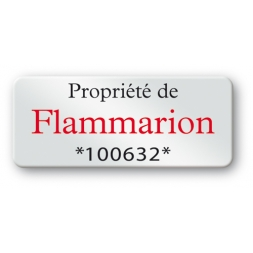 pre printed protected asset tag flammarion reference en
