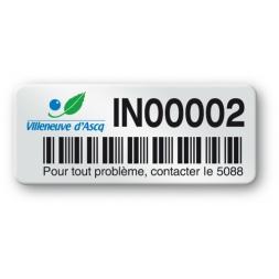 pre printed protected asset tag villeneuve asq logo barcode en