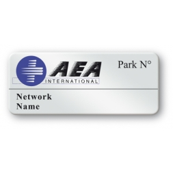 etiquette polyester ultra resistante logo aea international