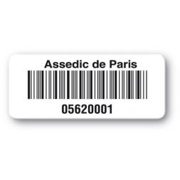 pre printed protected asset tag paris assedic barcode en
