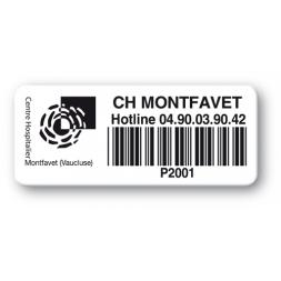 pre printed protected asset tag logo montfavet barcode en