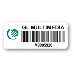 pre printed protected asset tag gl multimedia barcode resistant
