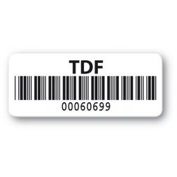 pre printed protected asset tag tdf barcode resistant en