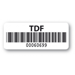 pre printed protected asset tag tdf barcode resistant en