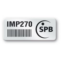 pre printed protected asset tag spb logo barcode en