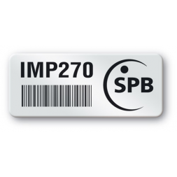 pre printed protected asset tag spb logo barcode en