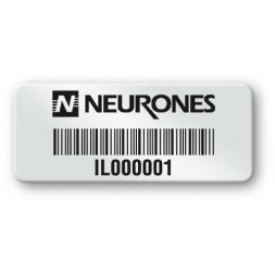 pre printed protected asset tag neurones logo barcode en