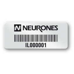 pre printed protected asset tag neurones logo barcode en