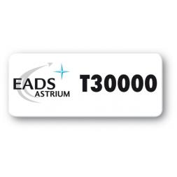 pre printed protected asset tag eads astrium logo en
