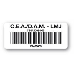 pre printed protected asset tag cea dam lmj barcode en