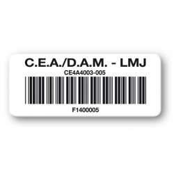 pre printed protected asset tag cea dam lmj barcode en