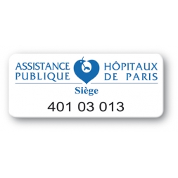 pre printed protected asset tag public assistance paris hospital logo en