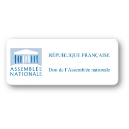 pre printed protected asset tag national assembly logo strong adhesive en