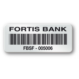 pre printed protected asset tag fortis bank strong adhesive barcode en