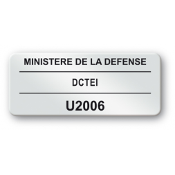 pre printed protected asset tag defense ministry refrence strong adhesive en