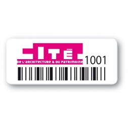 pre printed protected asset tag cite architecture patrimoine barcode en