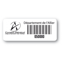 pre printed protected asset tag conseil general barcode en