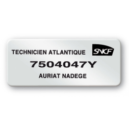 pre printed protected asset tag sncf reference en
