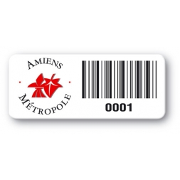 pre printed protected asset tag amiens metropole logo barcode en