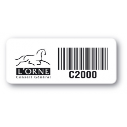 pre printed protected asset tag orne conseil general logo barcode en