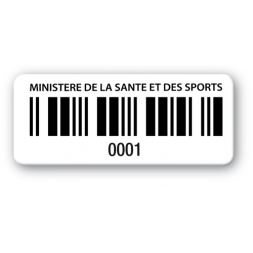 pre printed asset tag ministry of health barcode en