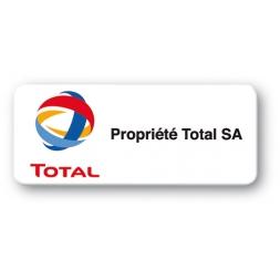 Etiquette polyester double-adhésif 3M  protégée pré-imprimée
