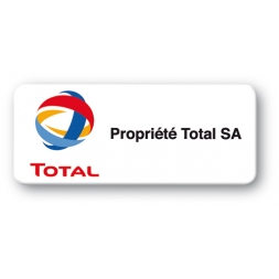 pre printed asset tag total logo strong adhesive en