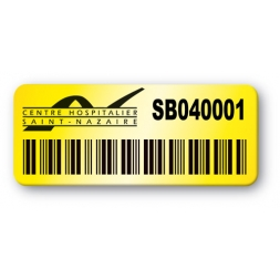3M Pre-Printed Color Background Protected Heavy Duty Asset Tag