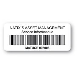 etiquette personnalisee polypropylene logo natixis code barre