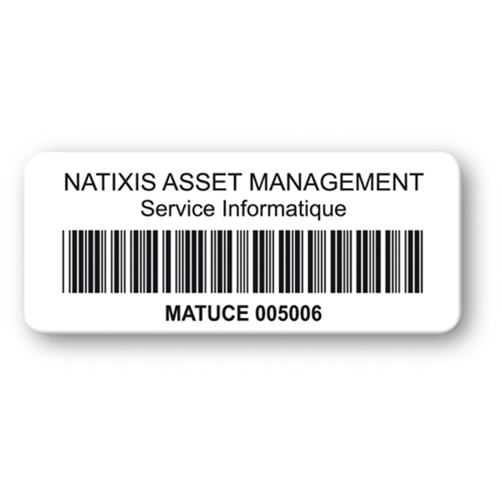 customized reinforced polyethylene asset label natixis logo barcode en