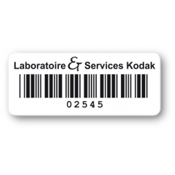 customized reinforced polyethylene asset label kodak barcode en