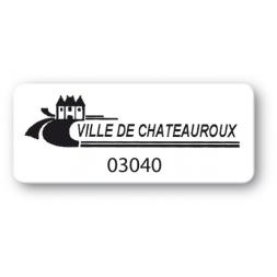 etiquette polypropylene ville de chateauroux reference