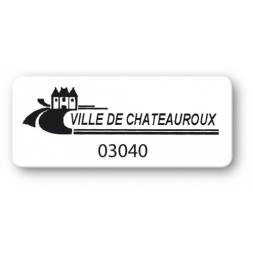 customized reinforced polyethylene asset label ville chateauroux en