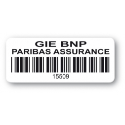 customized reinforced polyethylene asset label gie bnp barcode en